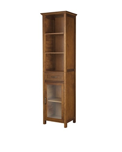 Elegant Home Fashions Avery 3-Shelf Linen Cabinet with Drawer