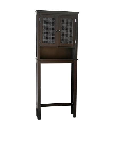 Elegant Home Fashions Savannah Space Saver, Dark Espresso