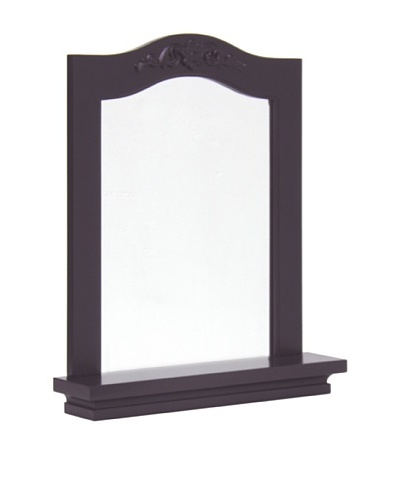 Elegant Home Fashions Versailles Wall Mirror with Shelf, Dark Espresso