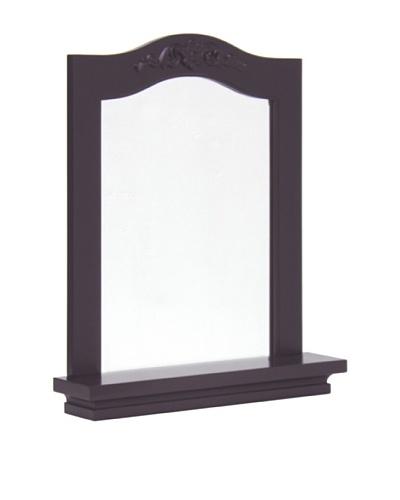 Elegant Home Fashions Versailles Wall Mirror with Shelf, Dark Espresso