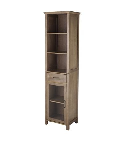 Elegant Home Fashions Peyton 5-Shelf Linen Cabinet with Drawer
