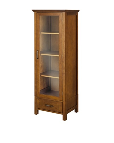 Elegant Home Fashions Avery Linen Cabinet with Door and Drawer