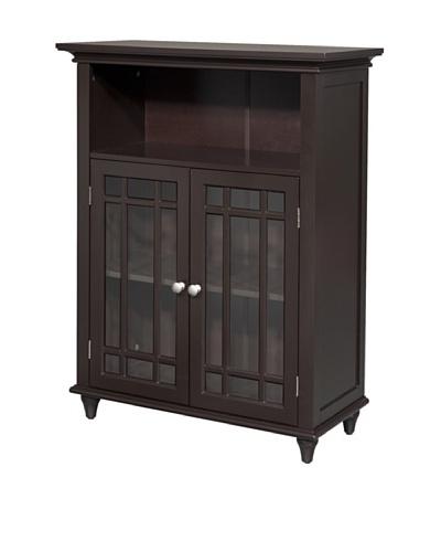 Elegant Home Fashions Neal Double Door Floor Cabinet, Dark Espresso