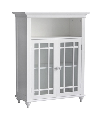 Elegant Home Fashions Neal Double Door Floor Cabinet, White