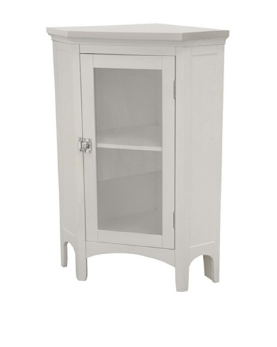 Elegant Home Fashions Madison Avenue Corner Floor Cabinet, White