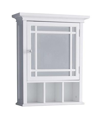 Elegant Home Fashions Neal Medicine Cabinet, White