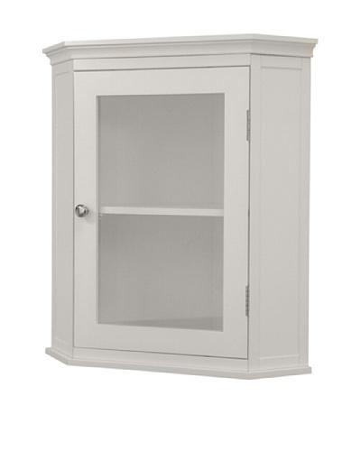 Elegant Home Fashions Madison Avenue Corner Wall Cabinet, White