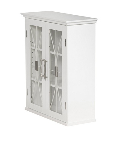 Elegant Home Fashions Delaney Double Door Wall Cabinet, White