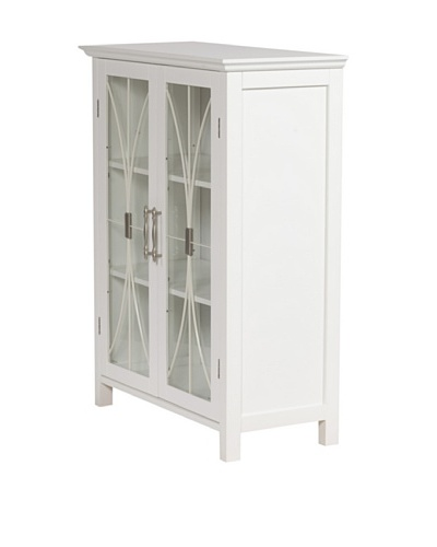 Elegant Home Fashions Delaney Double Door Floor Cabinet, White