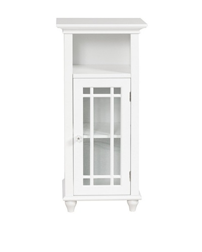 Elegant Home Fashions Neal Floor Cabinet with Door and Shelf, White