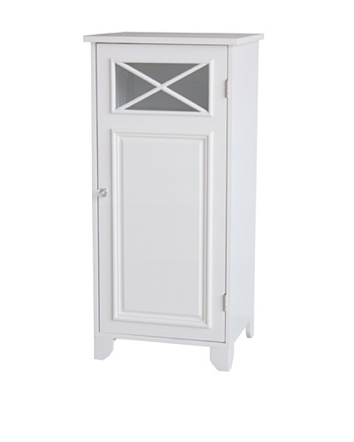Elegant Home Fashions Dawson Floor Cabinet with Door, White