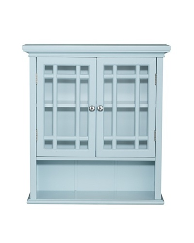 Elegant Home Fashions Neal Wall Cabinet with 2 Doors, Eton Blue