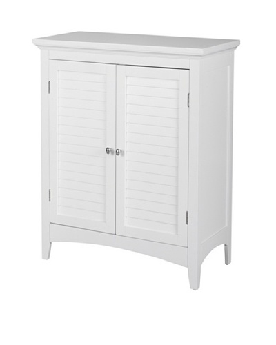 Elegant Home Fashions Slone Double Shutter Door Floor Cabinet, White