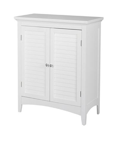 Elegant Home Fashions Slone Double Shutter Door Floor Cabinet, White