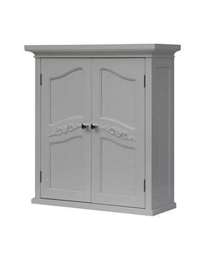 Elegant Home Fashions Versailles Double Door Wall Cabinet