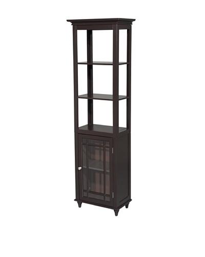 Elegant Home Fashions Neal Linen Tower, Dark Espresso