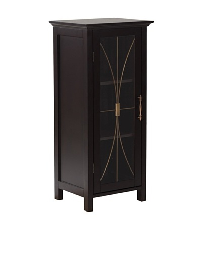 Elegant Home Fashions Delaney Floor Cabinet with Door, Dark Espresso