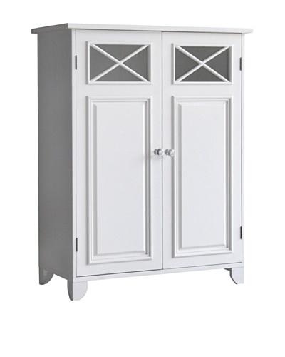 Elegant Home Fashions Dawson Double Door Floor Cabinet, White