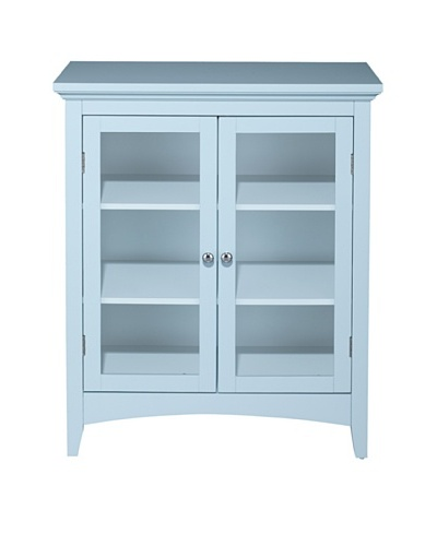 Elegant Home Fashions Madison Avenue Floor Cabinet with 2 Doors, Eton Blue
