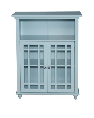 Elegant Home Fashions Neal Floor Cabinet with 2 Doors, Eton Blue
