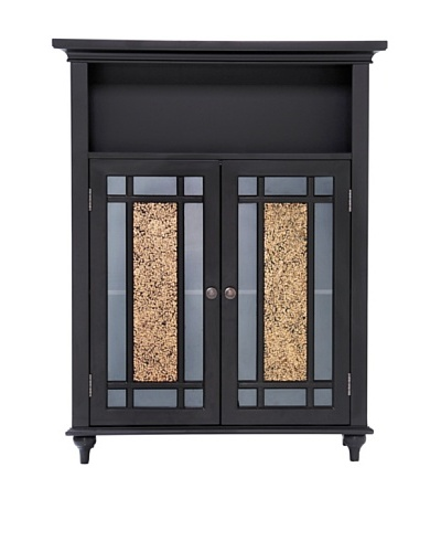 Elegant Home Fashions Whitney Double-Door Floor Cabinet, Dark Espresso