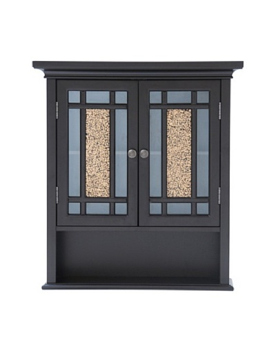Elegant Home Fashions Whitney Wall Cabinet, Dark Espresso
