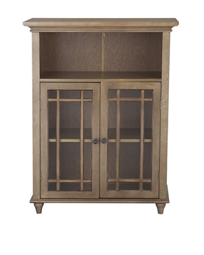 Elegant Home Fashions Harrington Floor Cabinet with 2 Doors, Weathered Wood