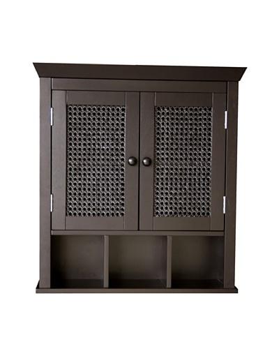 Elegant Home Fashions Savannah Wall Cabinet, Espresso