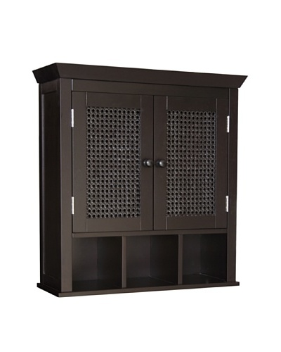 Elegant Home Fashions Savannah Two Door Wall Cabinet, Dark Espresso