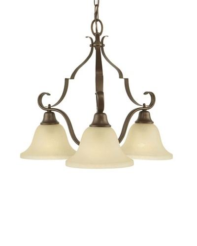 Feiss Vista 3-Light Chandelier, Corinthian Bronze