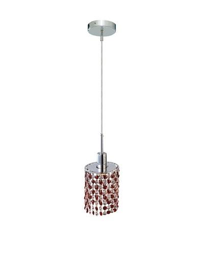 Elegant Lighting Mini Crystal Collection Round Pendant Lamp, Bordeaux