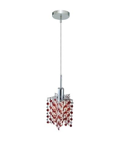 Elegant Lighting Mini Crystal Collection Star Pendant Lamp, Bordeaux