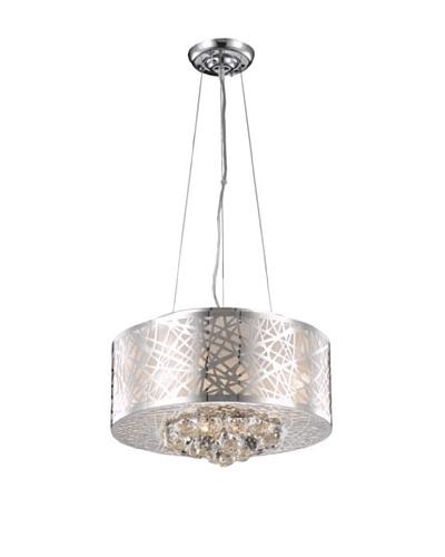 Elegant Lighting Prism 4-Light Pendant, Chrome