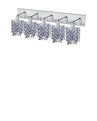 Elegant Lighting Mini Crystal Collection 5-Light Star Wall Sconce, Sapphire