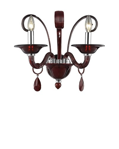 Elegant Lighting Muse Wall Sconce, Red