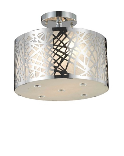 Elegant Lighting Prism Flush Mount [Chrome]