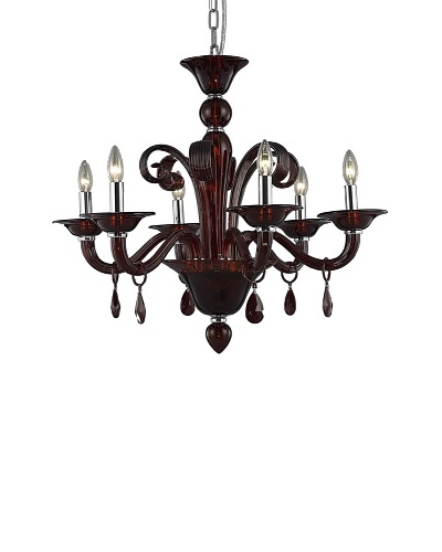 Elegant Lighting Muse 6-Light Chandelier, Red
