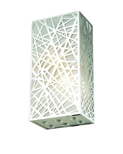 Elegant Lighting Rectangular Prism Wall Sconce, Chrome