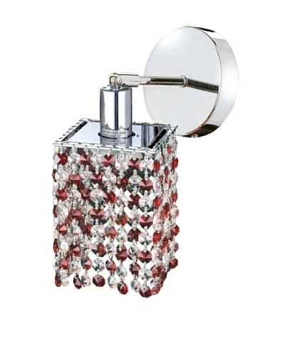 Elegant Lighting Mini Crystal Collection Square Wall Sconce, Bordeaux