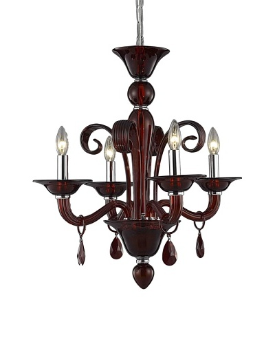 Elegant Lighting Muse 4-Light Chandelier, Red
