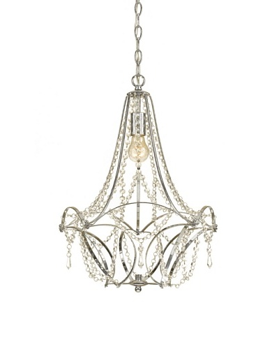 AF Lighting 7741-1H Castile Edison Base Mini Chandelier, Chrome Plated Frame, Clear Glass Accents