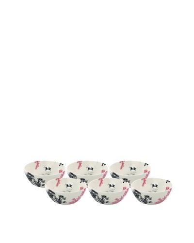 Elinno Set of 6 New Willow Bowls, White/Multi, 5