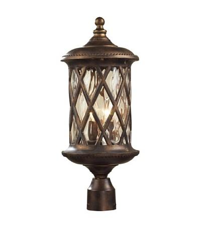 Elk 42034/2 2-Light Post Light In Hazelnut Bronze and Designer Water Glass