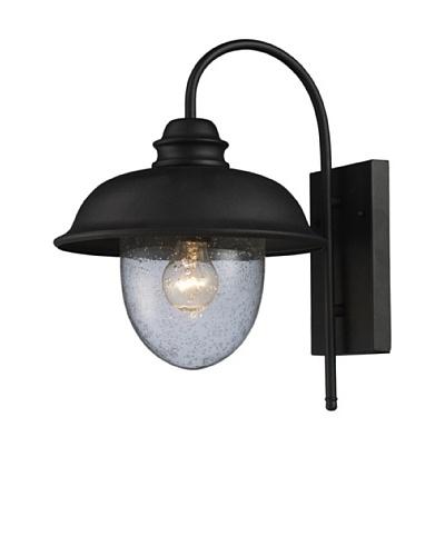 Elk 62000-1 Streetside Café 1-Light 12-Inch W x 15-Inch H Outdoor Sconce In Matte Black