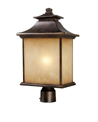 Elk 42184/1 San Gabriel 1-Light Outdoor Post Light In Hazelnut Bronze