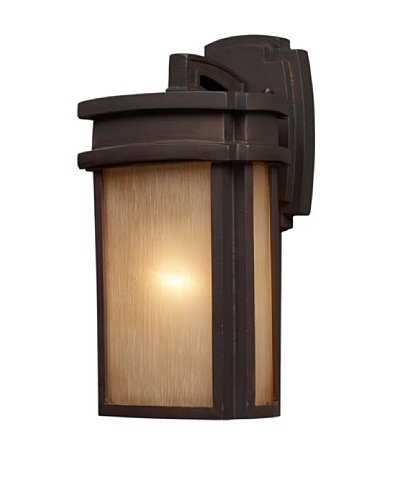 Elk 42140/1 Sedona 1-Light Outdoor Sconce 7-Inch Width by 13-Inch Height In Clay Bronze