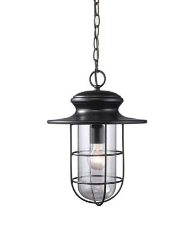 Elk 42286/1 Portside 1-Light Outdoor Pendant In Matte Black