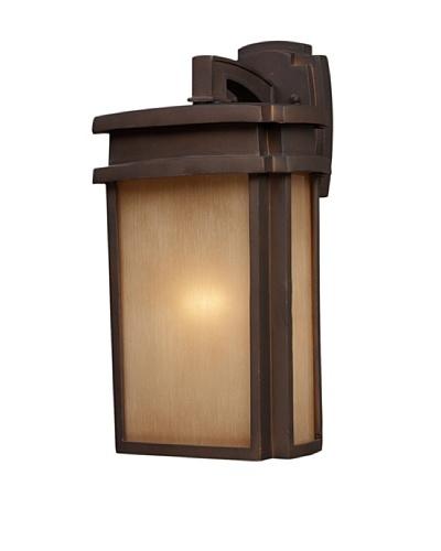 Elk 42141/1 Sedona 1-Light Outdoor Sconce 9-Inch W x 16-Inch H In Clay Bronze