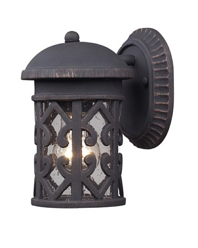Elk 42065/1 Tuscany Coast 1-Light Outdoor Sconce In Weathered Charcoal