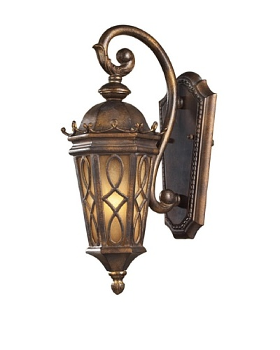 Elk 42000/1 1-Light Outdoor Sconce In Hazelnut Bronze and Amber Scavo Glass